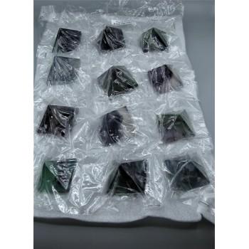 Gemstone Fluorite Pyramid Pack - 12 pcs Pack (1.5 Inch)