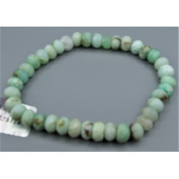 5x8 mm Faceted Gemstone Stretch Bracelet - Chrysoprase