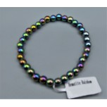 4 mm Hematite Bracelet -  Rainbow - 10 pcs Pack
