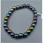 8 mm Hematite Bracelet -  Rainbow