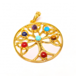 Tree of Life Chakra Pendant | Gold Plated