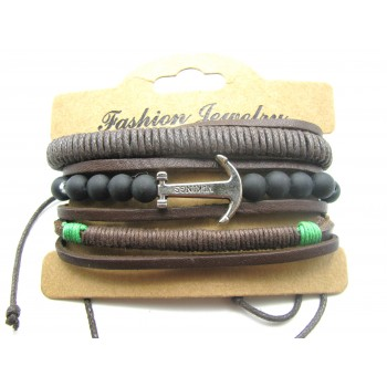 3 for 1 Leather Bracelet Style #1