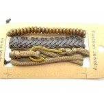 3 for 1 Leather Bracelet Style #2