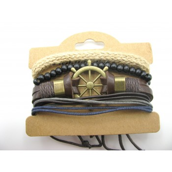 3 for 1 Leather Bracelet Style #4