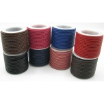 3mm Braided Leather Cord 6 Meters Spool -assorted colors available!