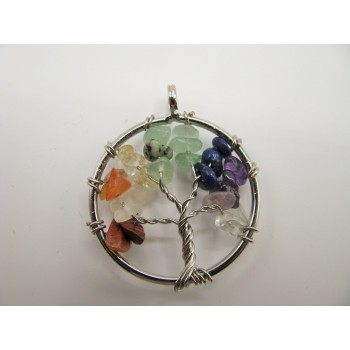 Small Tree of Life Gemstone Pendant- assorted stones available!