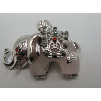 Wrapped Gemstone Elephant Jeweled Pendant  Assorted Stones