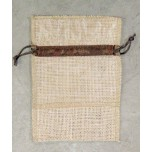 Organza and Burlap Pouch XLarge 10 piece pack - Brown