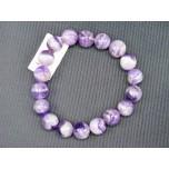 10mm  Gemstone Round Bead Bracelet - Amethyst