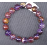 11mm Gemstone Bracelet -  Purple Phantom