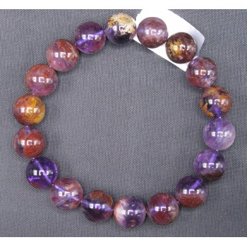 11mm Gemstone Bracelet -  Purple Phantom