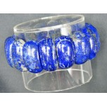 Long Dome Gemstone Bracelet- Lapis