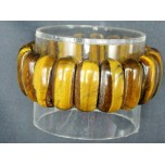 Long Dome Gemstone Bracelet -Tiger Eye