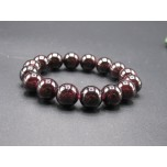 12mm Gemstone Bracelet -  Garnet