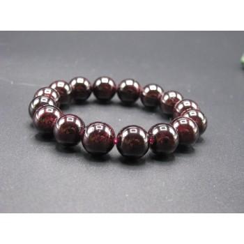 12mm Gemstone Bracelet -  Garnet