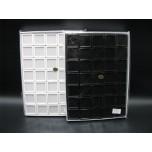 Plastic gift Box 3cm x 3cm -35pc pack in black or white