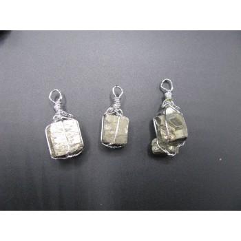 Gemstone Chunk on a Bail - Pyrite