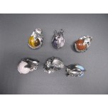 Gemstone Elephant Head Pendant - Assorted Stones