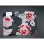 Roses on Black Go Green Bag - Large