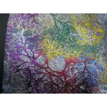 Designer - Tree of Life Organza Pouch 17 x 23 cm (6.7 x 9 Inch) 12 piece pack - White