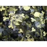 Designer Golden Skull Organza Pouch 10 x 12cm 12 piece pack