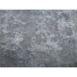Designer Silver Vine Organza Pouch 7 x 9cm 12 piece pack