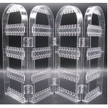 4-panel Clear Earring.jewelry Display Stand