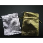 Economy Metallic Pouch Small 7cm x 9cm 100pc pk Gold or Silver