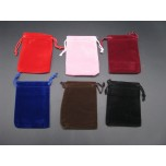 Economy Velvet Pouch Large 10cm x 12cm 50pc pk 6 colors Available