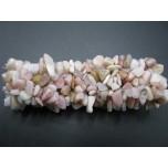 5 Strand Chip Bracelet - Pink Opal