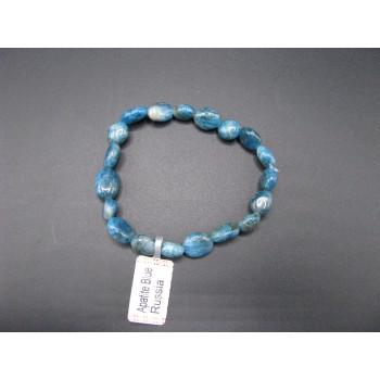 Irregular Gemstone Bracelet - Apatite Blue