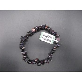 7 Inch Stretch Chip Bracelet - Sugilite