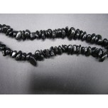 34-35 Inch Chip Necklace - Tourmaline Black