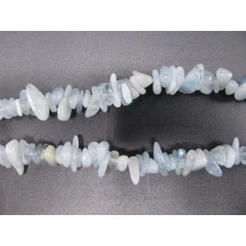 34-35 Inch Chip Necklace - Aquamarine