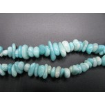 34-35 Inch Chip Necklace - Peru Amazonite