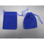 Velvet Pouch Large 4.5 Inch x 3.5 Inch 12 piece pack - Blue