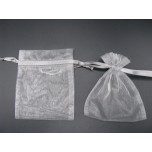 Organza Pouch XLarge 12 piece pack - Grey