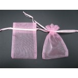 Organza Pouch XLarge 12 piece pack - Pink