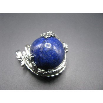 Large Dragon Wrapped Gemstone Pendant - Assorted Gemstones