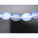 16 inch 13mm x 18mm Egg Shaped Gemstone Bead Strand - Opalite