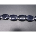 13mm x 18mm Egg Shaped Gemstone Bead Strand - Blue Goldstone
