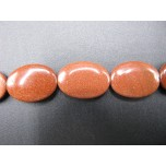 13mm x 18mm Egg Shaped Gemstone Bead Strand - Goldstone