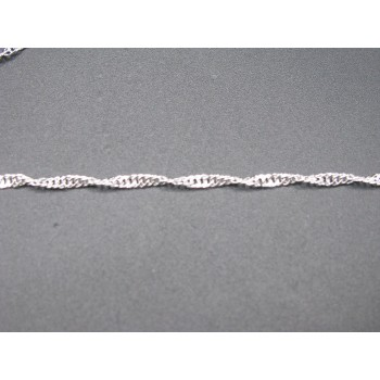 Chain Silver Plated 10 piece pack 18 Inch 1.5 Singapore