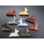 Egyptian Dog Anubis 1.5 Inch Figurine - Assorted Stones