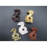 Snake (Cobra) 2.25 Inch Figurine - Assorted Stones