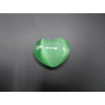 Small Fiber Optic Heart - Light Green