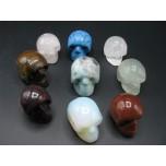 Skull 1.5 Inch Figurine - Assorted Stones