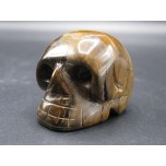 Skull 2.25 Inch Figurine - Tiger Eye