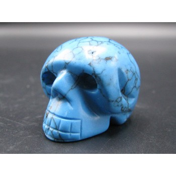 Skull 1.5 Inch Figurine - Turquoise Howlite