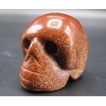 Skull 1.5 Inch Figurine - Goldstone